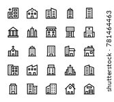 buildings stoke icons 2 | Shutterstock .eps vector #781464463