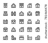 buildings stoke icons 1 | Shutterstock .eps vector #781464478