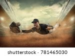 baseball players in action on... | Shutterstock . vector #781465030