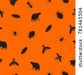 seamless pattern insects and... | Shutterstock .eps vector #781465504