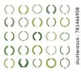 set of laurel wreaths. heraldic ... | Shutterstock .eps vector #781466908