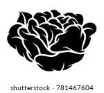 flower rose  black and white.... | Shutterstock .eps vector #781467604
