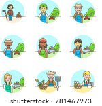 ecology  multicolor icon set | Shutterstock .eps vector #781467973
