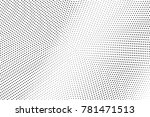 black and white dotted halftone ... | Shutterstock .eps vector #781471513