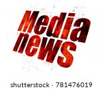 news concept  pixelated red... | Shutterstock . vector #781476019
