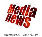 news concept  pixelated red... | Shutterstock . vector #781476019