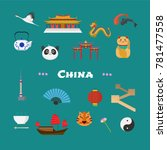 china vector illustration with... | Shutterstock .eps vector #781477558