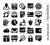 business vector icons 1  | Shutterstock .eps vector #781483840