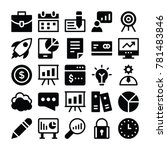 business vector icons 1  | Shutterstock .eps vector #781483846