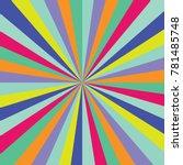 sunburst ray vector colored... | Shutterstock .eps vector #781485748
