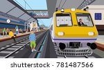 railway trespassing in the... | Shutterstock .eps vector #781487566