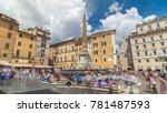 fountain on the piazza della...   Shutterstock . vector #781487593