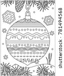 winter holidays coloring page... | Shutterstock .eps vector #781494568