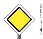 road sign yellow main road on... | Shutterstock .eps vector #781496518