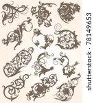 flourish collection | Shutterstock .eps vector #78149653