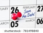 wall calendar with a red pin  ... | Shutterstock . vector #781498840