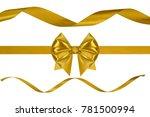 set of three holiday golden... | Shutterstock . vector #781500994