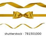 set of three celebration golden ... | Shutterstock . vector #781501000