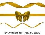 set of three decoration golden... | Shutterstock . vector #781501009