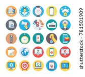 seo and marketing vector icons ... | Shutterstock .eps vector #781501909