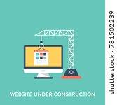 vector illustration of website... | Shutterstock .eps vector #781502239