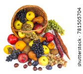 apples and other fruits in a... | Shutterstock . vector #781505704