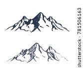 mountains set. hand drawn rocky ... | Shutterstock .eps vector #781506163