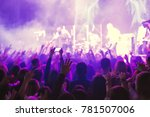 the audience watching the... | Shutterstock . vector #781507006