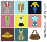 assembly flat icons fashion... | Shutterstock .eps vector #781507864