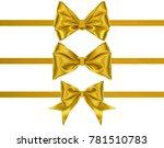 set of decoration golden silk... | Shutterstock . vector #781510783