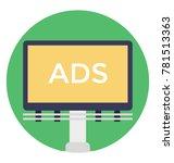advertisement billboard ...   Shutterstock .eps vector #781513363
