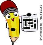 illustration of a pencil mascot ... | Shutterstock .eps vector #781516159