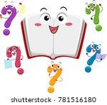 illustration of an open book... | Shutterstock .eps vector #781516180