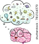 illustration of a brain mascot... | Shutterstock .eps vector #781516570