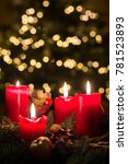 Advent Wreath With All Four...