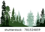 illustration with fir trees... | Shutterstock .eps vector #781524859