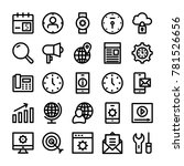 seo and marketing vector icons ... | Shutterstock .eps vector #781526656