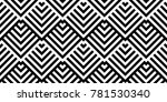 seamless pattern with striped... | Shutterstock .eps vector #781530340