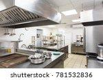 modern kitchen equipment in a... | Shutterstock . vector #781532836