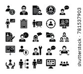 human resources glyphs vector... | Shutterstock .eps vector #781537903