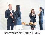 successful busuness teamwork... | Shutterstock . vector #781541389