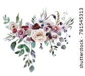wedding bridal bouquet. green...   Shutterstock . vector #781545313