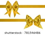 set of decoration golden silk... | Shutterstock . vector #781546486