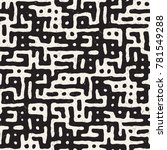 vector seamless black and white ... | Shutterstock .eps vector #781549288