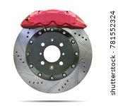 disc brake isolated on white... | Shutterstock . vector #781552324