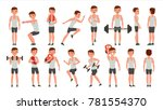fitness man vector. different... | Shutterstock .eps vector #781554370