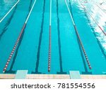 swimming pool with lanes | Shutterstock . vector #781554556