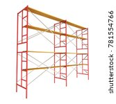 scaffolding metal construction... | Shutterstock . vector #781554766