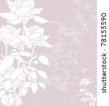floral invitation for life... | Shutterstock .eps vector #78155590