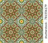 seamless oriental ornamental... | Shutterstock .eps vector #781556179